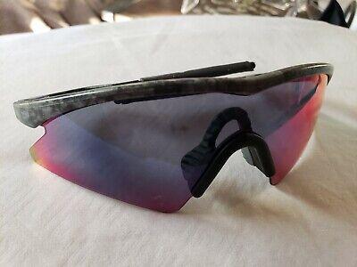 Oakley M frame Mumbo Black Rain +Red Iridium Sweep - Frame Sweep Sunglasses Iridium Lens