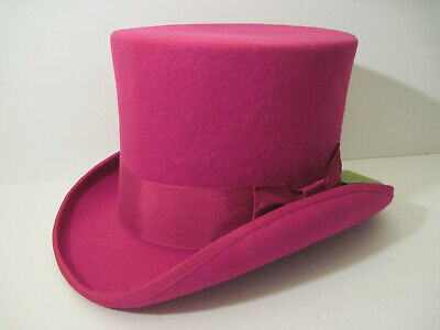 Rose PINK Women TOP HAT Victorian COSPLAY ! Hat Chimney Pot Steampunk MAD HATTER