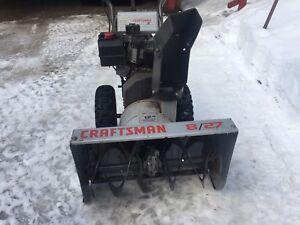 Snow Blower 8/27 Craftsman