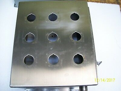 Hoffman Stainless Steel 9 Hole Enclosure Junction Box 12x10x6 A12106