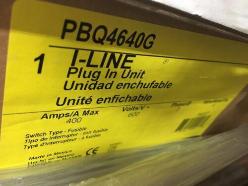 Square D I-line Pbq4640g Fusible Busplug 400a 3ph 4w W/ Ground New Surplus