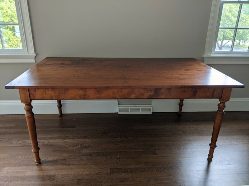Leonards New England Tiger Maple Farm Table
