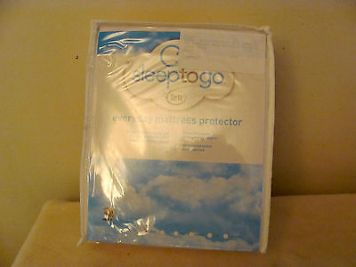 Serta Sleep To Go Everyday Mattress Protector Breathable Waterproof Free Ship