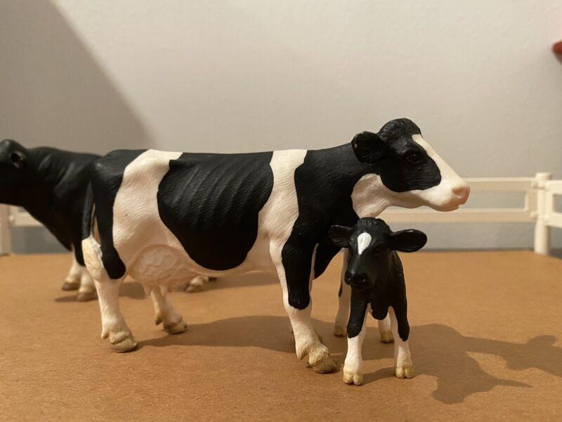 Schleich Holstein and Calf