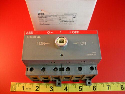 ABB OT63F3C Change Over Switch Asea Brown Boveri 1SCA105338R1001 Nib New