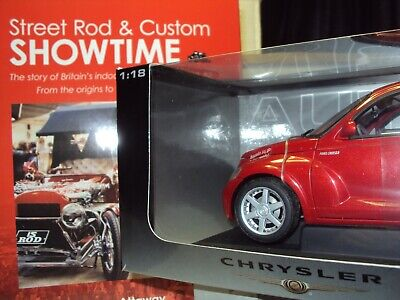 1:18 SCALE AUTOART PT CRUISER WITH LARGE HOT ROD STREET MACHINE CUSTOM CAR BOOK for sale  Shipping to Ireland