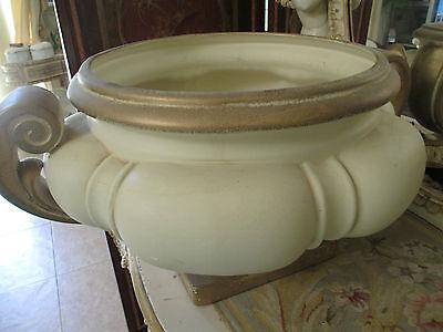 (Mid century Pale Lemon Ceramic planter Urn Vase Certifyed STYLNOVE Italy)