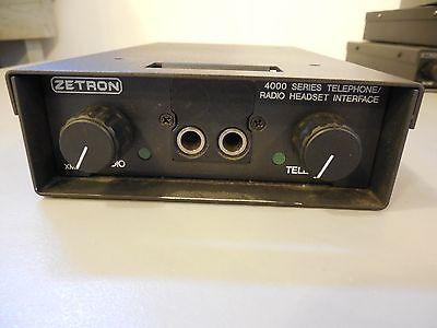 Zetron Series 4000 Telephone Radio Headset Interface