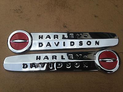 Harley Davidson 1947-1950 Fuel Tank Emblems, Medallions Nameplates