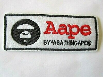 Bathing Ape Aape Milo Monkey Animal Black White Iron On Patch Applique Sewing for sale  Shipping to India