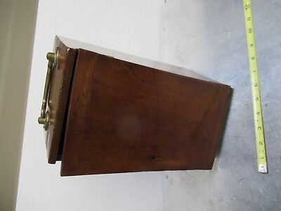 Antique Empty Wood Box Case Beck London Uk Microscope Part As Pictured Tb-5-1