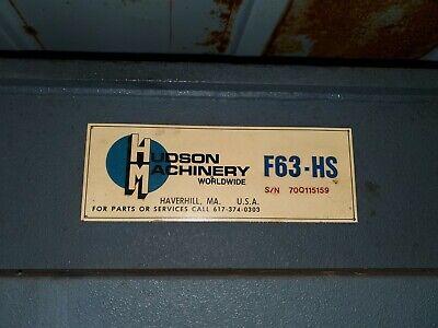 20 Ton Hudson F63hs Traveling - Head Die-cuttingclicker Press - 28441