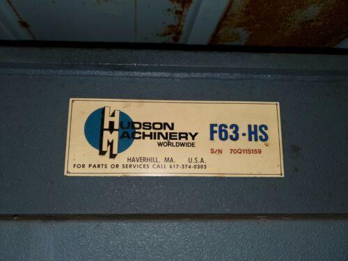 "20 TON HUDSON ""F63HS"" TRAVELING - HEAD DIE-CUTTING/CLICKER PRESS - #28441"
