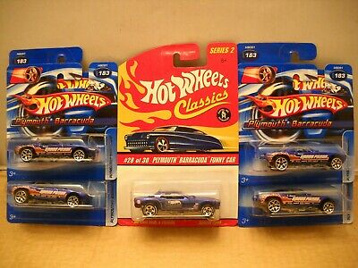 Hot Wheels Classics Plymouth Barracuda Vintage Snake Mongoose Funny Car Lot