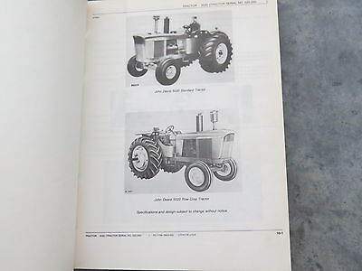 John Deere 5020 Tractor Parts Catalog Manual Serial 25001-up 1980