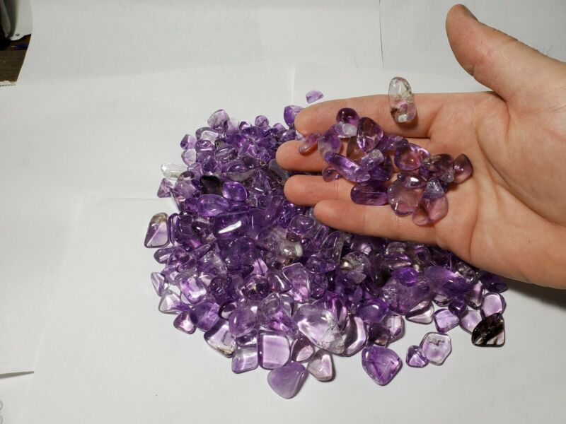 500 Grams Of Tumbled Maine Amethyst From The 4th Of July Pocket Deer Hill Maine