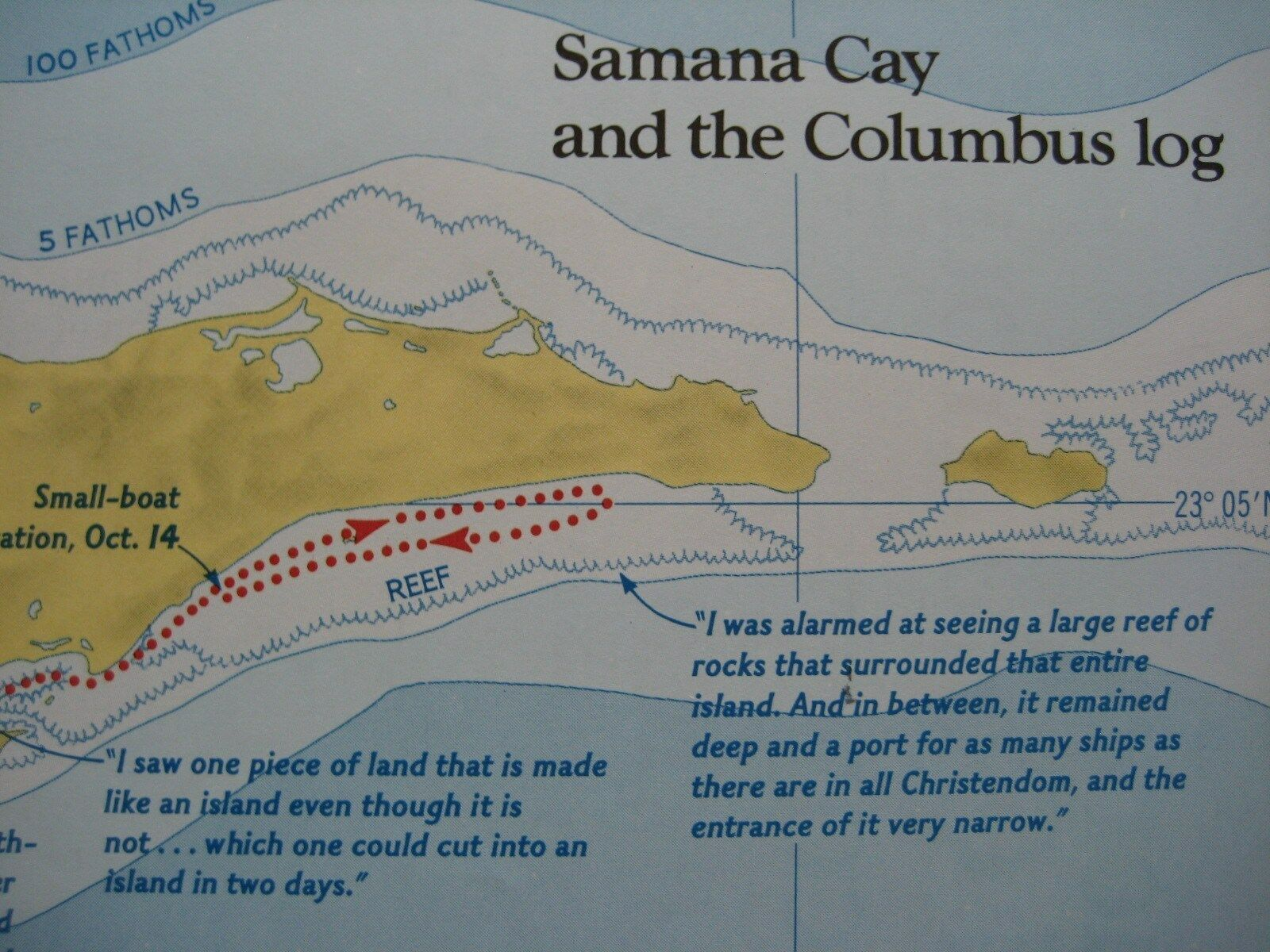 Chiristopher columbus landfall controversy map samana cay v san condition this map is in excellent condition bright and clean with no marks rips or tears we are pleased to offer it with our unconditional sciox Gallery