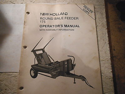 New Holland 175 Round Bale Feeder Operators Manual Dealer Copy
