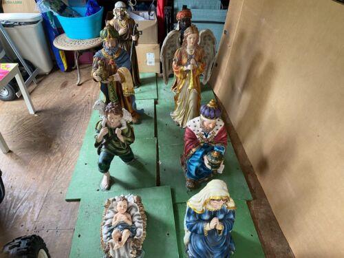 "Outdoor Nativity Scene - 8 Piece Set - 36"" tall - Very Nice !"
