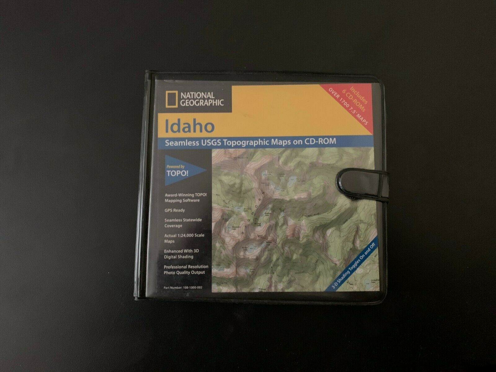 National Geographic Topo Idaho Mapping Software USGS Quad Maps - $32.00
