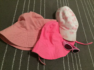 Girls hats and glasses