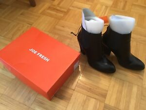 Joe Fresh Ankle Boots size 10 new with tags and box