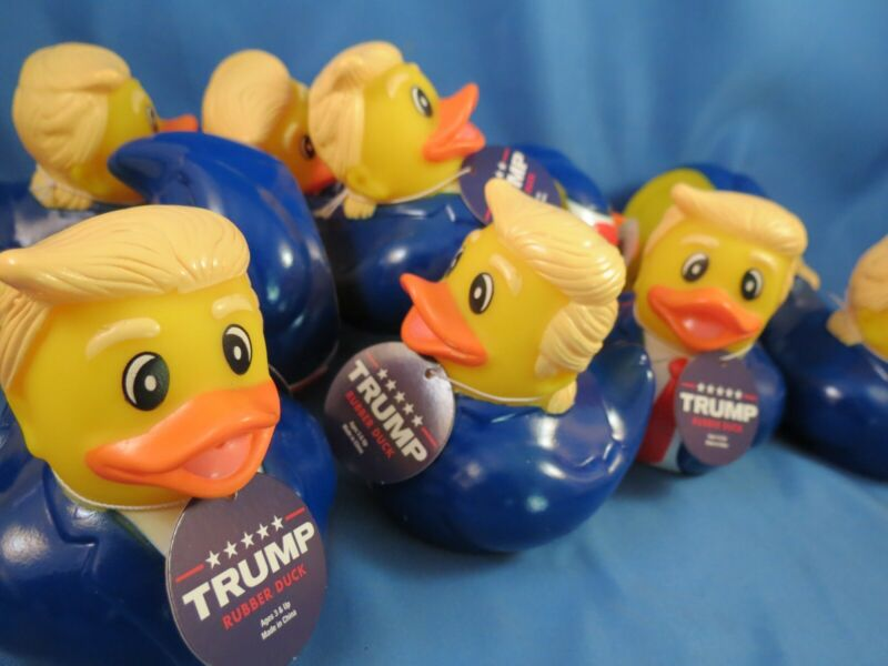 WHOLESALE LOT OF 5 DONALD TRUMP RUBBER DUCKIES DUCKY DUCK 2020 Float Bath tub