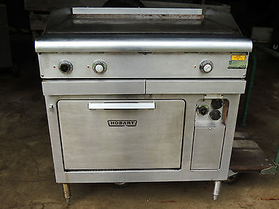 Hobart Model Cr42 Compact Oven Range And 36l X 38w X 38 12h Griddle Cooktop