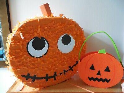 M&S Halloween Bundle , Pumpkin Pinata and Fleece Pumpkin Spooky Treat/Sweet Bag
