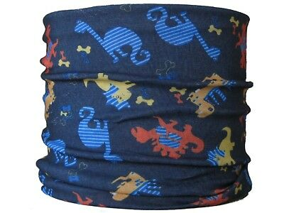 CHILD SIZE Gaiter,Dinosaur hat neck tube mask skiing snood base layer boys scarf Base Layer Neck Tube