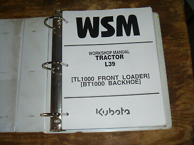 Kubota L39 Tractor Loader Backhoe Shop Service Repair Manual