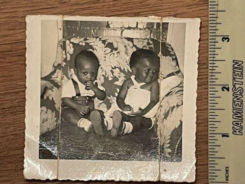 Vintage photo African American Group young Children Babies - read description