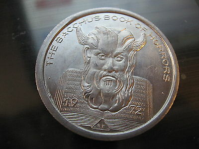 1972 book of horrors satan devil Mardi Gras Doubloon Coin new orleans
