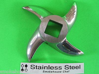 12 Meat Grinder Biro Hobart Mtn Knife Blade Cutter Stainless Steel