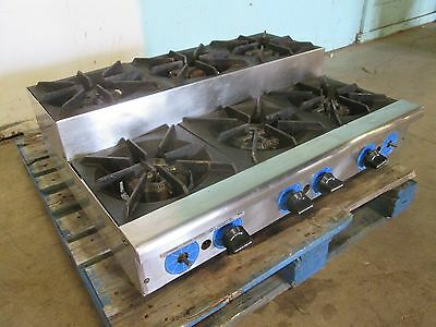 Rankin-delux Hd Commercial Nsf Natural-gas 6 Burners Step Counter-top Stove