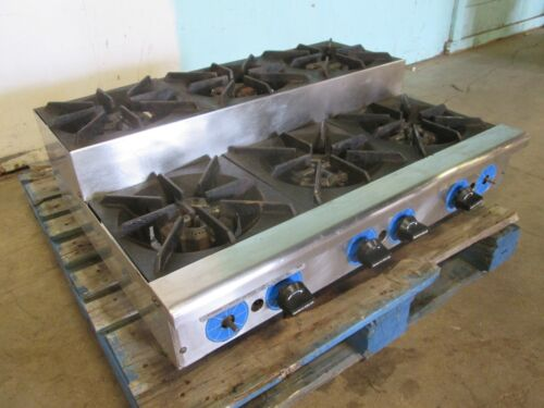 """""""rankin-delux"""" Hd Commercial (nsf) Natural-gas  6 Burners Step Counter-top Stove"""