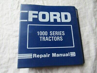 Ford 1100 Tractor Repair Manual Shop Service Manual