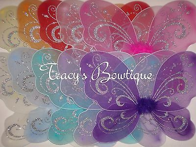 One Girls Butterfly Wings Dress Up Photo Prop Costume Party Favor Princess Fairy - Dress Up Butterfly
