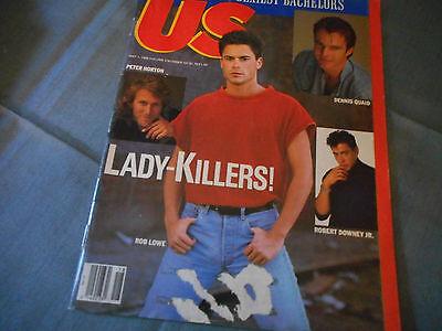 Rob Lowe Covers Us Weekly Magazine May 1989