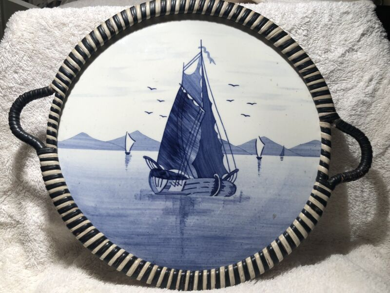 Delft Sailboat Serving Plate Germany