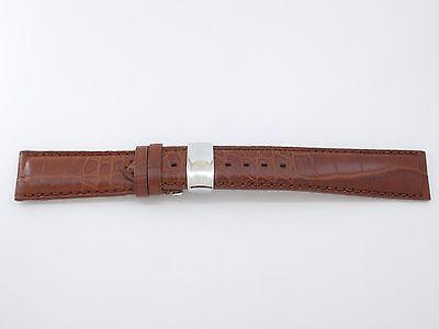 Original Gevril Uhrenarmband Alligtaorleder Braun 21 mm mit Faltschliesse