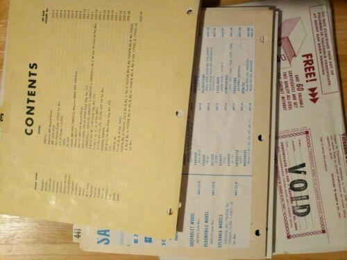 SAMS Photofact Folder Sets from 251-500