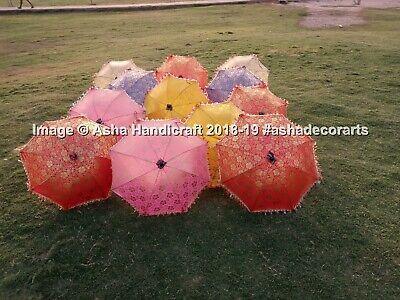 Portátil Parasol Sombrillas, Hippie Tema Boda Seda Oro Estampado Paraguas