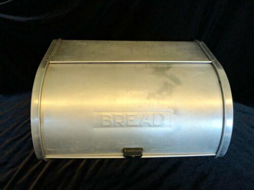 Vintage MCM Aluminum Kromex Bread Box Curved Lid