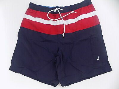 Nautica men's swim trunks XL XLarge Blue white red