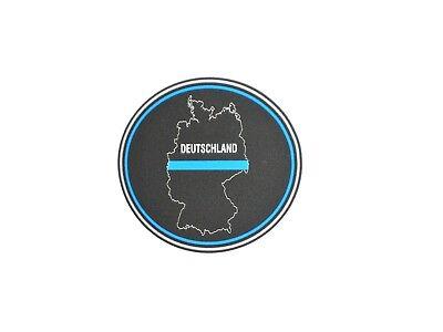 Aufkleber oval thin blue line Deutschland, ca. 6 x 7 cm, Polizei support