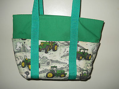 John Deere Ladies Purse. Lunch Tote, John Deere Tractors & Green Handmade New
