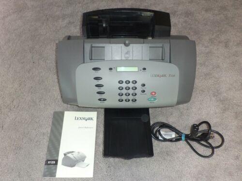 LEXMARK X125 All In One Office Center Inkjet Printer Fax