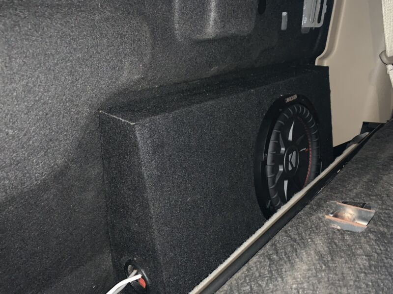 """15-20 Ford F150 Crew Cab Behind Seat 8"""" 10"""" Subwoofer Enclosure (Built To order)"""