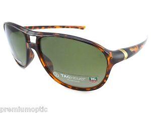 Tag-Heuer-Polarizado-27-Grados-Gafas-de-sol-th6043-310-CAREY-Verde-precision